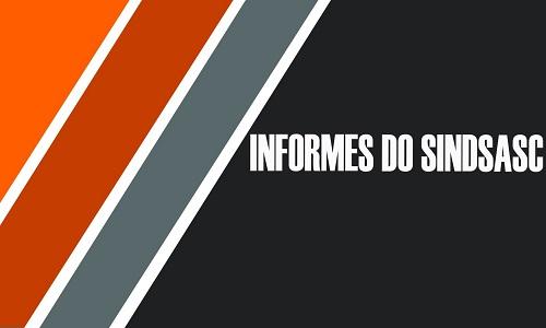 INFORMES DO SINDSASC - SEXTA, 16/06/2017