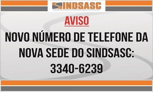 AVISO - MUDANÇA DE NÚMERO DE TELEFONE
