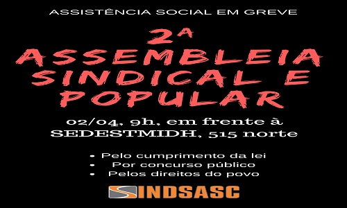 2ª ASSEMBLEIA SINDICAL E POPULAR