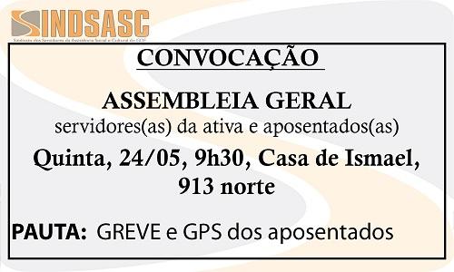 CONVOCAÇÃO - ASSEMBLEIA GERAL - 24/05