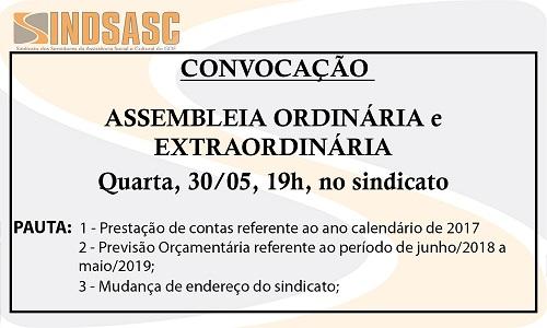 CONVOCAÇÃO - ASSEMBLEIA GERAL ORDINÁRIA E EXTRAORDINÁRIA