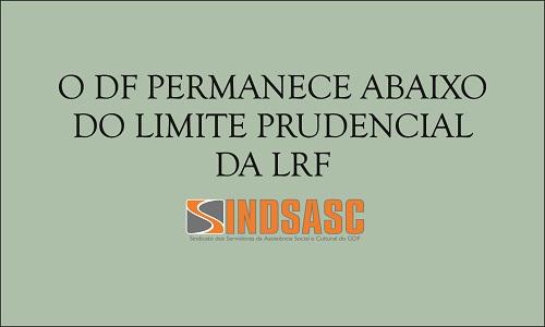 O DF PERMANECE ABAIXO DO LIMITE PRUDENCIAL DA LRF
