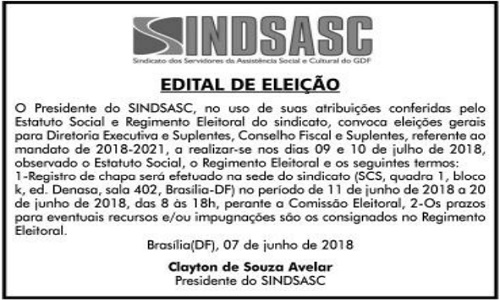 EDITAL DE ELEIÇÃO