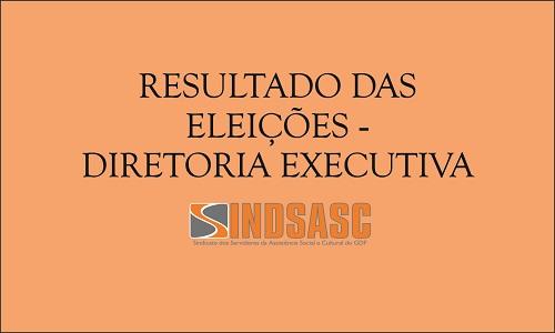 RESULTADO DAS ELEIÇÕES - DIRETORIA EXECUTIVA