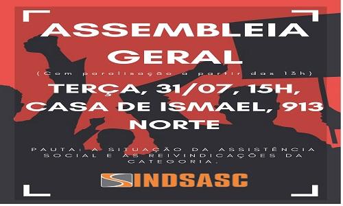 ASSEMBLEIA GERAL - 31/07 - 15H