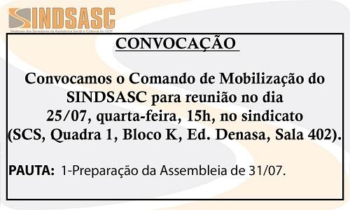CONVOCAÇÃO - COMANDO DE MOBILIZAÇÃO SINDSASC