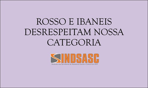 ROSSO E IBANEIS DESRESPEITARAM NOSSA CATEGORIA