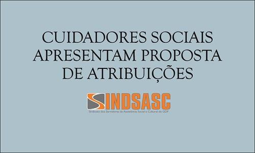 CUIDADORES SOCIAIS APRESENTAM PROPOSTA DE ATRIBUIÇÕES
