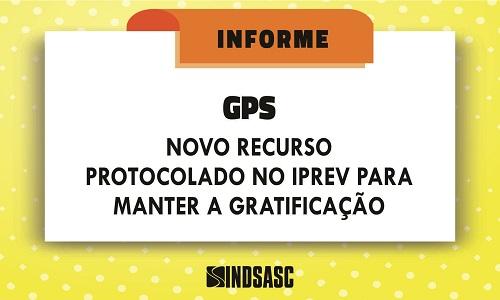 NOVO RECURSO PROTOCOLADO NO IPREV PARA MANTER A GPS