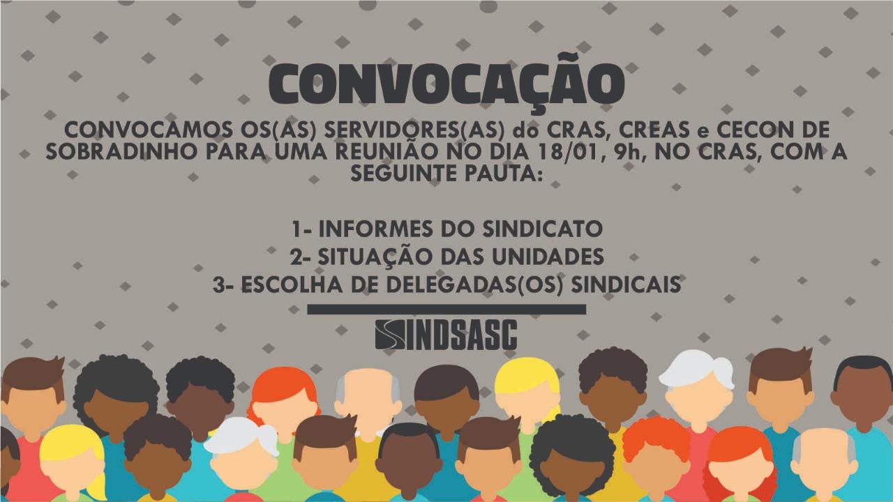 Convocação - Reunião servidores(as) do CRAS, CREAS e CECON