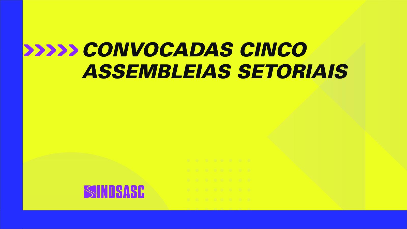 CONVOCADAS CINCO ASSEMBLEIAS SETORIAIS