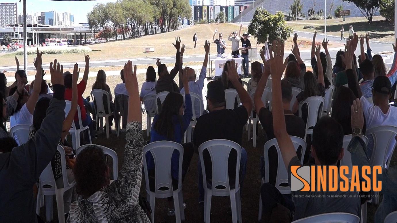 Vídeo: veja como foi a assembleia-geral do Sindsasc