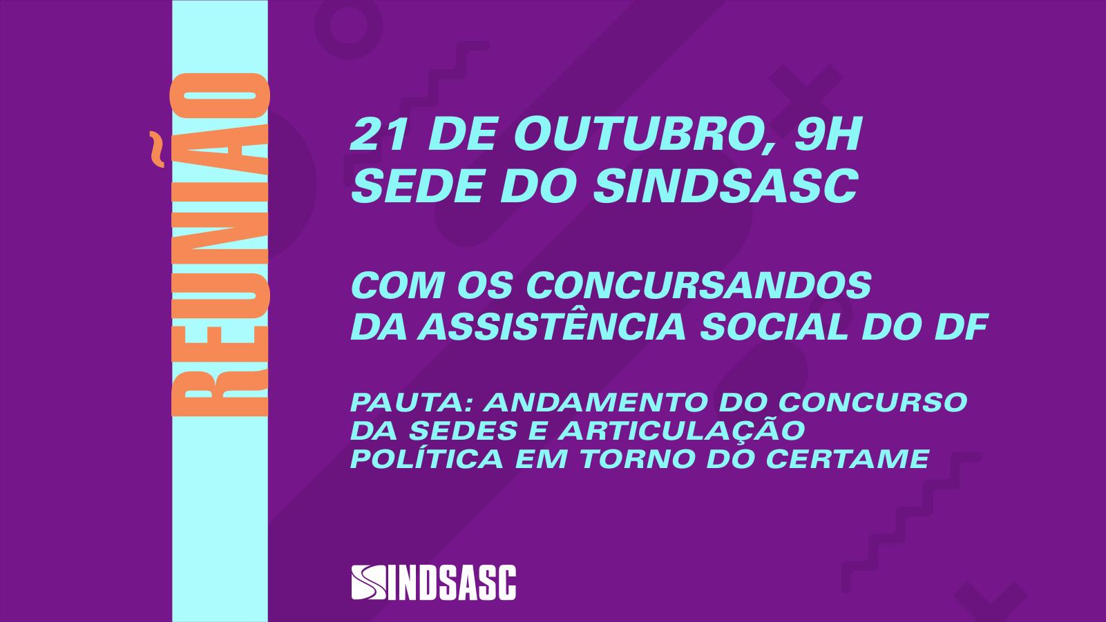 Certame da Sedes é tema de reunião com os concursandos no dia 21 de outubro