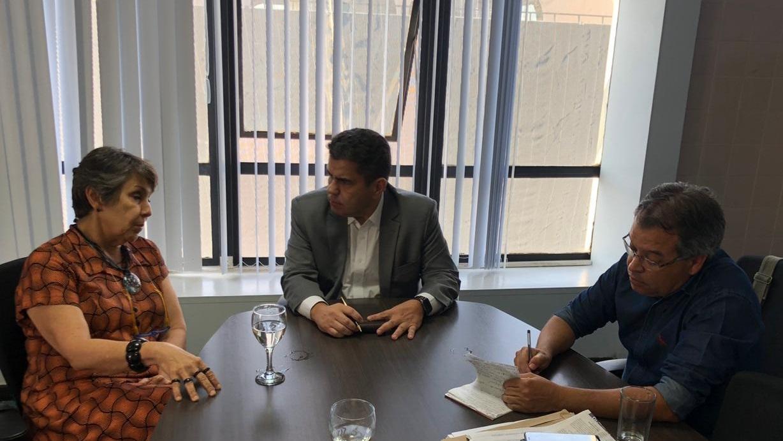 Sindsasc participa de reunião com a deputada Erika Kokay e secretário Ricardo Guterres (Sedes)