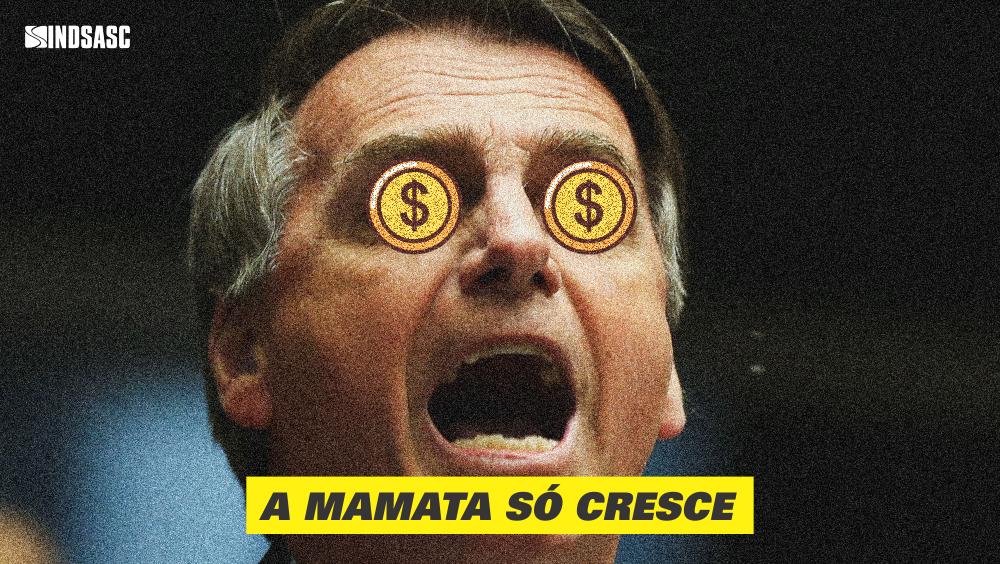 A mamata só cresce: Bolsonaro aumenta próprio salário e elevação pode chegar a 69%