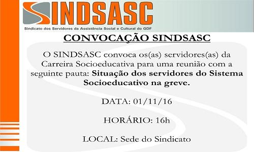 CONVOCAÇÃO SINDSASC