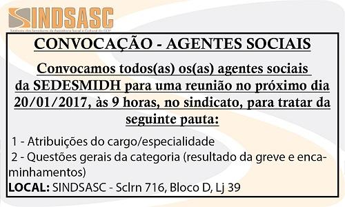 CONVOCAÇÃO - AGENTES SOCIAIS