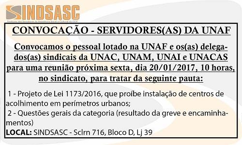 CONVOCAÇÃO - SERVIDORES(AS) DA UNAF
