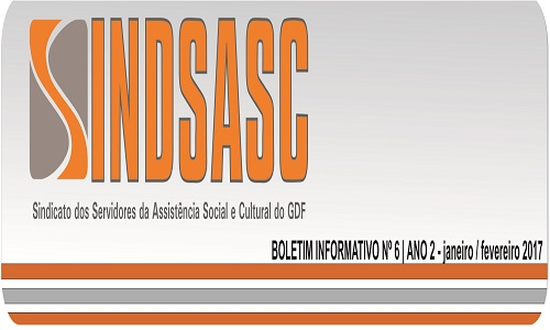 BOLETIM INFORMATIVO SINDSASC - ANO 2 - Nº6 - JANEIRO / FEVEREIRO 2017