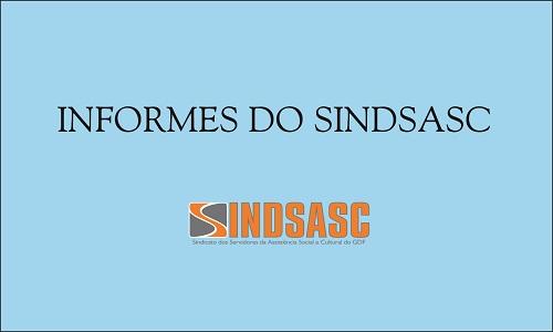INFORMES DO SINDSASC - QUINTA, 19/01/2017