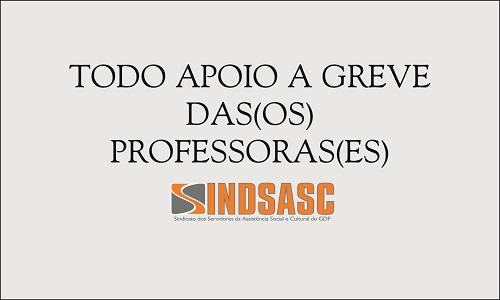 TODO APOIO À GREVE DAS(OS) PROFESSORAS(ES)