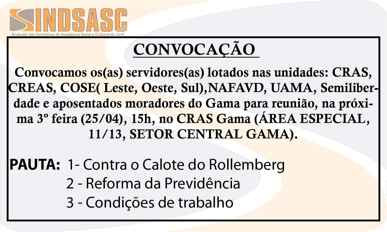 CONVOCAÇÃO - GAMA