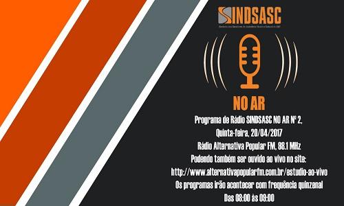 SINDSASC NO AR Nº2