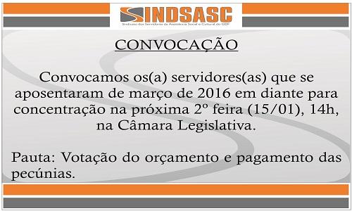 CONVOCAÇÃO - CONCENTRAÇÃO NA CÂMARA LEGISLATIVA