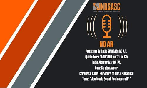 SINDSASC NO AR - PROGRAMA DE RÁDIO