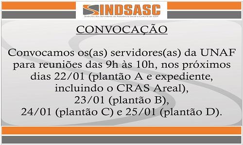 CONVOCAÇÃO - REUNIÕES UNAF