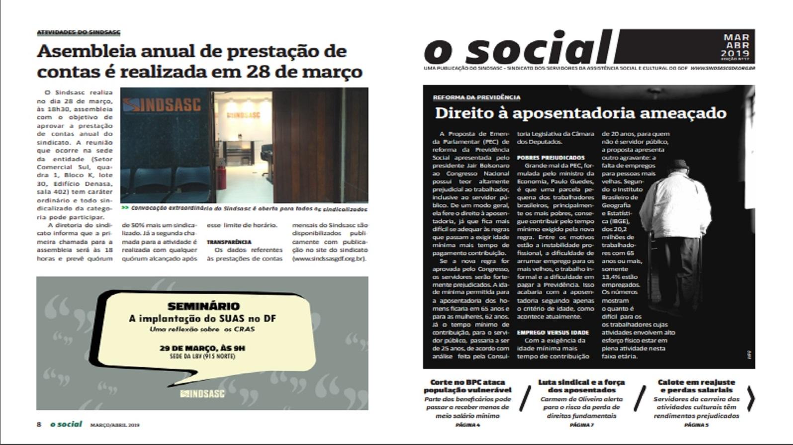 O Social: edição de março / abril de 2019