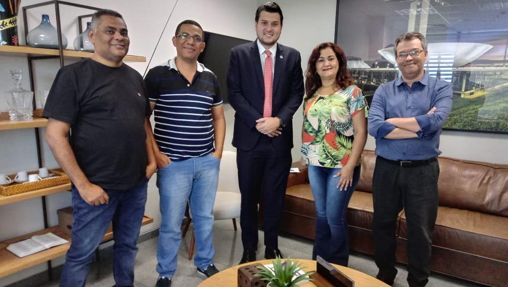 Sindsasc reúne com o deputado Eduardo Pedrosa