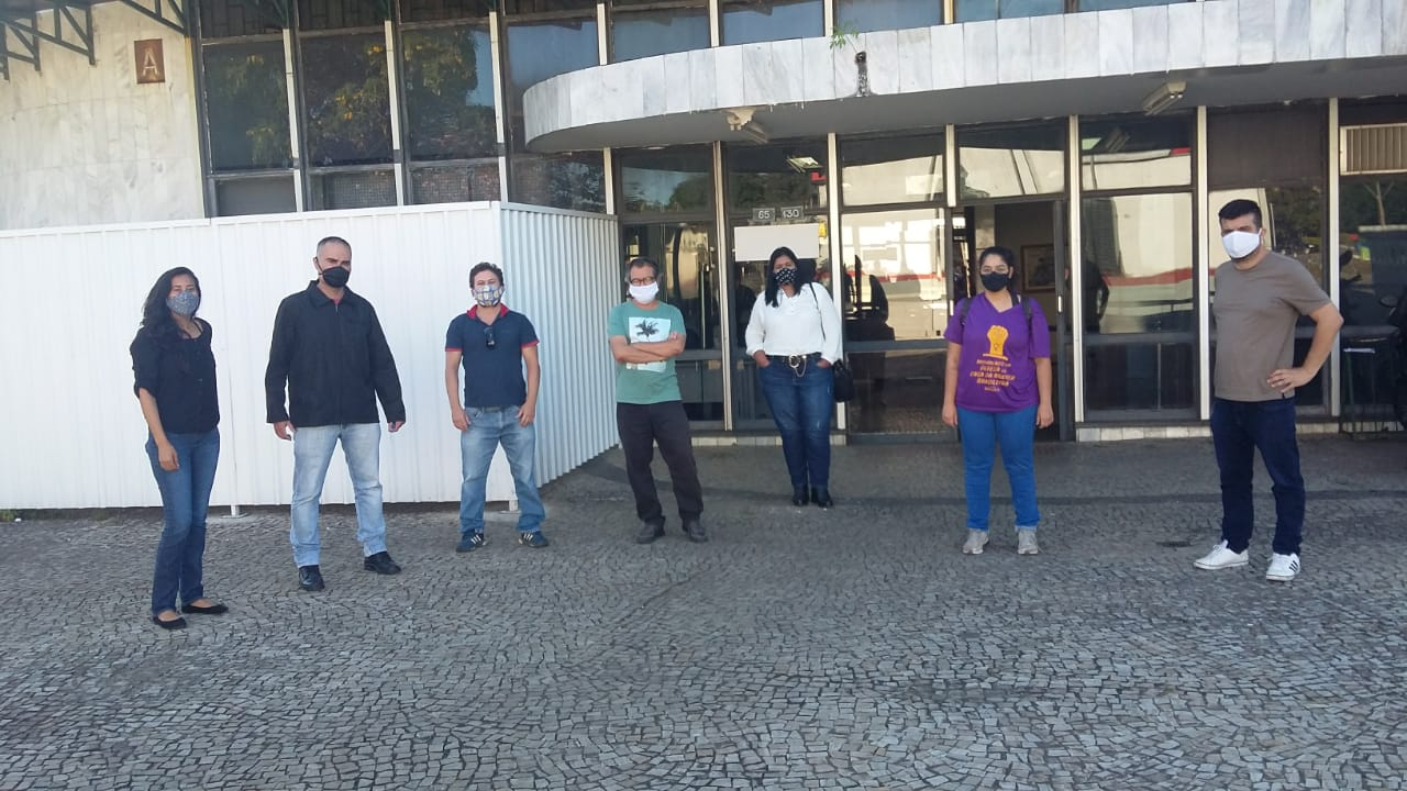 DIRETORIA DO SINDSASC ESTEVE NA 515 EM LUTA POR MELHORES CONDIÇÕES DE TRABALHO