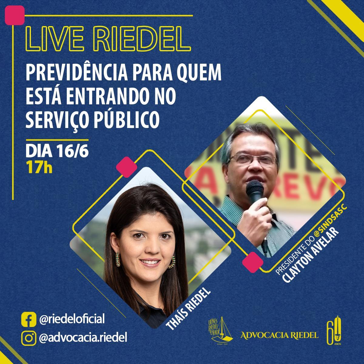 LIVE RIEDEL - PREVIDÊNCIA PARA QUEM ESTÁ ENTRANDO NO SERVIÇO PÚBLICO