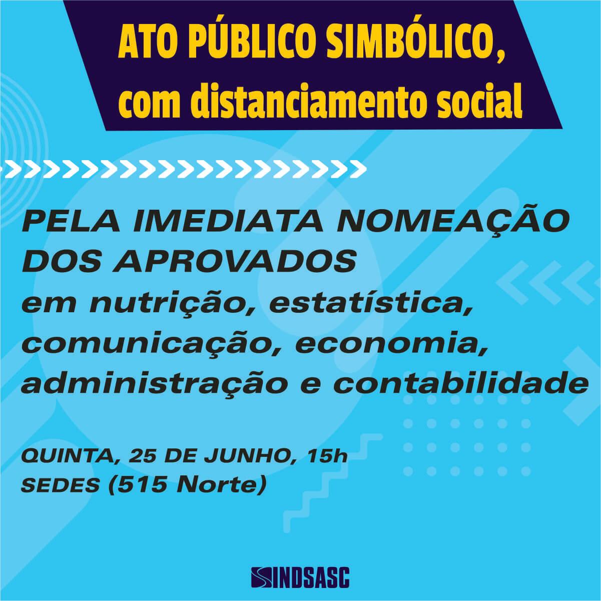 ATO PÚBLICO SIMBÓLICO, COM DISTANCIAMENTO SOCIAL