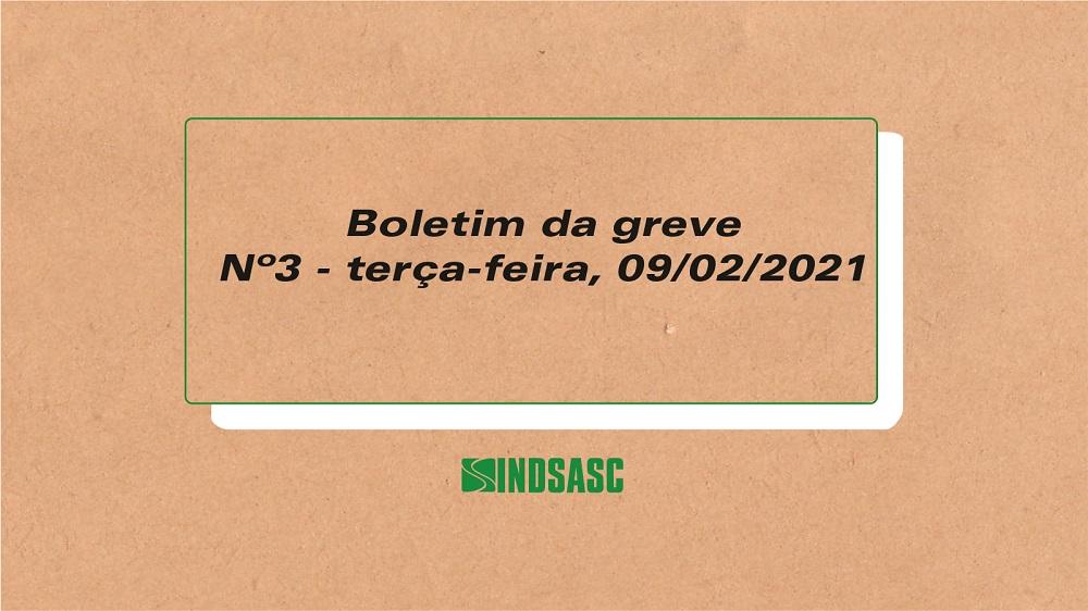 Boletim da greve - Nº3 - Terça-Feira, 9 de fevereiro