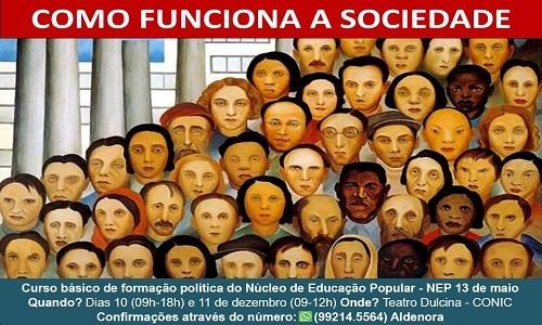 CURSO BÁSICO DE FORMAÇÃO POLÍTICA DO NÚCLEO DE EDUCAÇÃO POPULAR - NEP 13 DE MAIO
